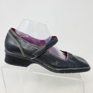 Aerosoles Women's Black Mary Jane Leather Shoes Sq